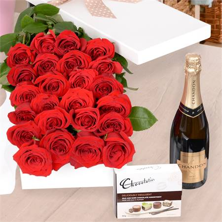 Valentine's Day Affection with Chocs & Chandon